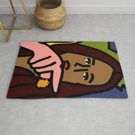 Woman yelling at cat Meme - Detail 2 Rug
