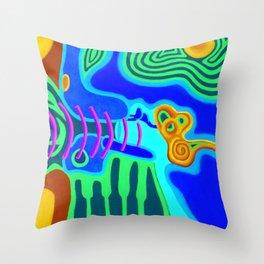 Music - The Elements - Air Throw Pillow