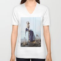 rapunzel V-neck T-shirts featuring Rapunzel by Rose's Creation