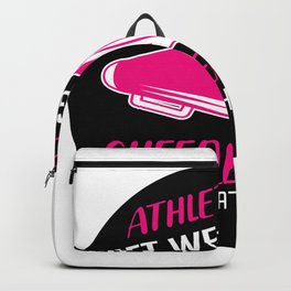 Cheerleader Lift Athletes Cheerleader And Athletic Gift Backpack