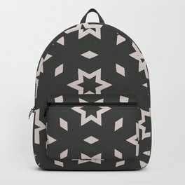 Black and white Stars Pattern Christmas Hollidays Backpack
