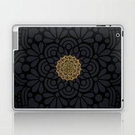 """Black & Gold Arabesque Mandala"" Laptop & iPad Skin"