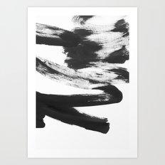 b+w strokes 5 Art Print