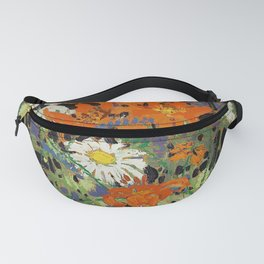 Tom Thomson - Marguerites, Wood Lillies and Vetch - Canada, Canadian Oil Painting - Group of Seven Fanny Pack