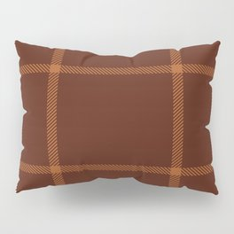 Plaid White And Brown Lumberjack Flannel Pillow Sham