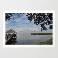 Water Landscape Scene Reflection on the Bay Art Print