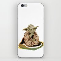 yoda iPhone & iPod Skins featuring Yoda by Rocío Gómez