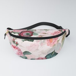 Vintage & Shabby Chic - Summer Blush Roses Garden Fanny Pack