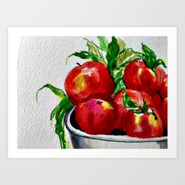Life is Just a Bowl of Apples Art Print