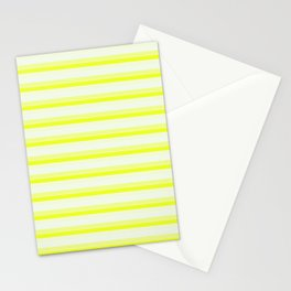 Yellow Stripes Stationery Cards