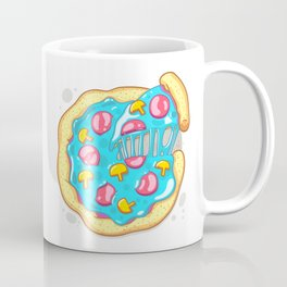 Blue Pizza Coffee Mug