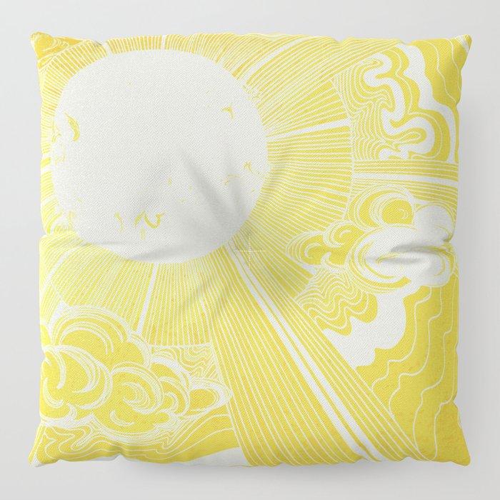 Solar Flare Floor Pillow