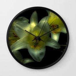 Glowing Lilies Wall Clock