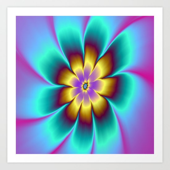 Golden Daisy Art Print