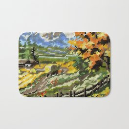 Found Tapestry Landscape Bath Mat