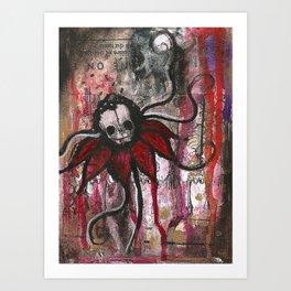 Skullflower Art Print