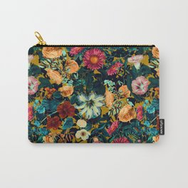 Floral Pattern Winter Garden Carry-All Pouch