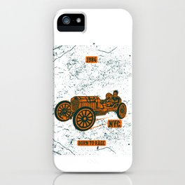 Championship Speed Race Classic Racing iPhone Case