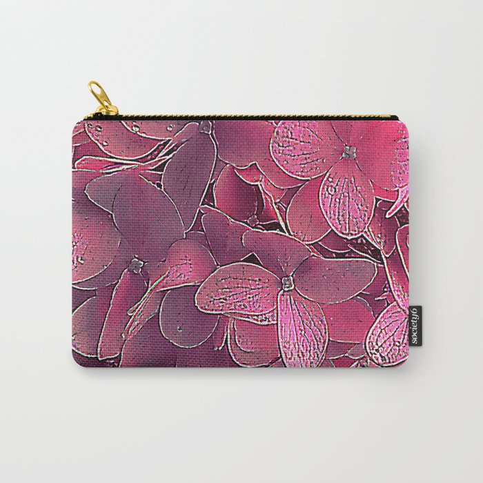 Magenta viburnum Carry-All Pouch