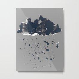 Inky Oil Cloud of Radiation Metal Print