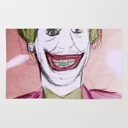 Cesar Romero as the mad clown Rug