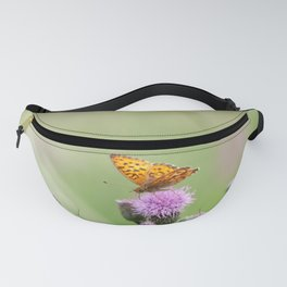 Butterfly on a thistle Fanny Pack