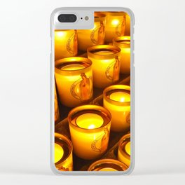 Candles of Notre Dame, Paris Clear iPhone Case