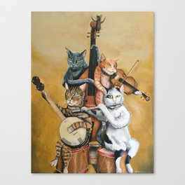 Cat Quartet Canvas Print
