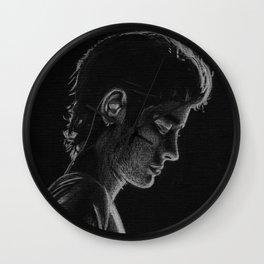 Zayn Malik on black paper Wall Clock