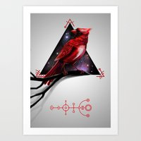 cardinal Art Prints featuring Cardinal by MyArti