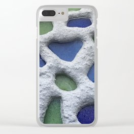 Sea Glass Mosaic Detail Clear iPhone Case