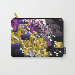 Decorative Abstract in Purple, Blue, Black, Yellow, and White Carry-All Pouch