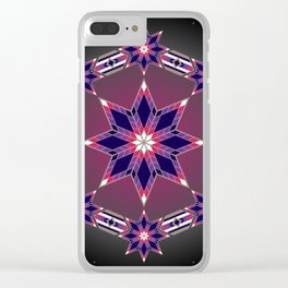 Morning Star Circle (Purple) Clear iPhone Case