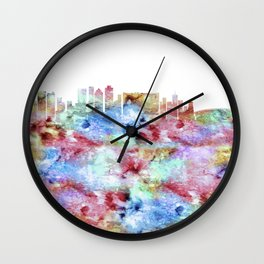 Cape Town City Skyline Wall Clock