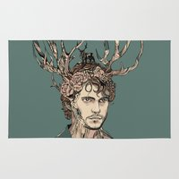 will graham Area & Throw Rugs featuring I Believe You by Huebucket