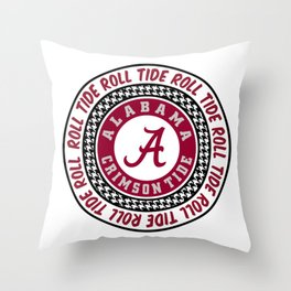 Alabama University Roll Tide Crimson Tide Throw Pillow