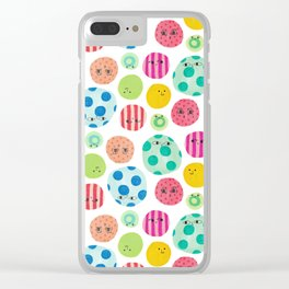 Colored Faces Clear iPhone Case