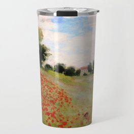 POPPIES - CLAUDE MONET Travel Mug