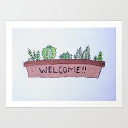 Welcoming Succulents Art Print