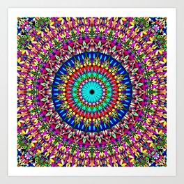 Magic Life Garden Mandala Art Print
