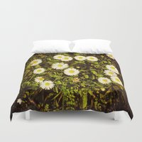 daisy Duvet Covers featuring Daisy by ArtSchool