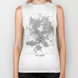 Riyadh White Map Biker Tank