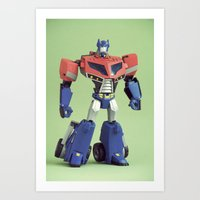 optimus prime Art Prints featuring Optimus Prime (Animated) by Fanboy30