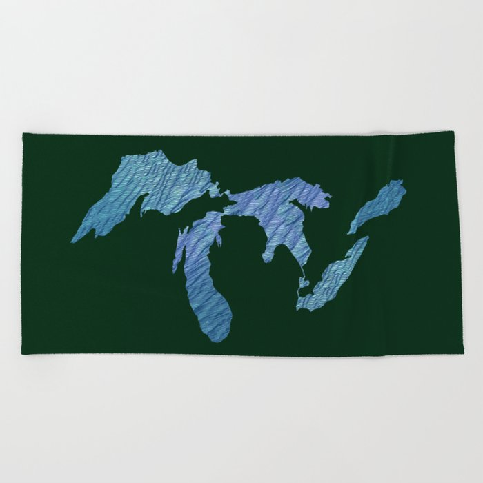 Great Lakes Beach Towel