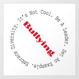 Stop Bullying-Outline Art Print