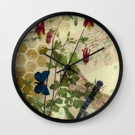 Columbine Love Letters 2 Wall Clock