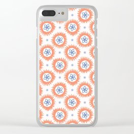 Hand drawn spring folk flower circles Clear iPhone Case