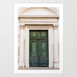 Old Green Door in Venice | Italy Travel Photography | Fine Art photo  Art Print