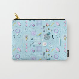 Memphis style pattern Carry-All Pouch