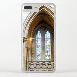 Stained Glass in Truro Cathedral Clear iPhone Case